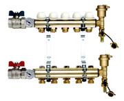 TIEMME 1 x 3/4 ЕК 10 выхода Коллекторная группа с регулировочными и термостатическими вентилями
