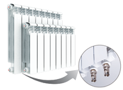 Алюминиевый радиатор отопления Rifar Alum Ventil 350 / 6 секций НПЛ