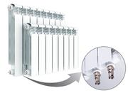 Алюминиевый радиатор отопления Rifar Alum Ventil 350 / 10 секций НПЛ