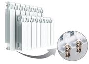 Биметаллический радиатор Rifar Monolit Ventil 350 / 14 секций