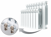 Биметаллический радиатор Rifar Monolit Ventil 350 / 6 секций / MVR