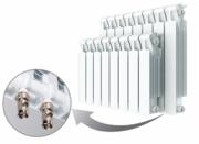 Биметаллический радиатор Rifar Monolit Ventil 350 / 8 секций / MRV