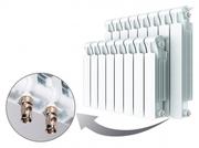 Биметаллический радиатор Rifar Monolit ventil 500 / 4 секций