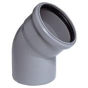 Угольник канализационный D 110 мм, угол 45 градусов