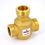 """Клапан трехходовой термостатический 60˚С Uni-Fitt Н 1""""1/4 для напольных котлов боковое смешение Kvs 9"""