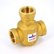 """Клапан трехходовой термостатический 60˚С Uni-Fitt В 1"""" для напольных котлов боковое смешение Kvs 9"""