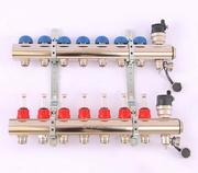EMMETI 1 x 3/4 ЕК 8 выхода Коллекторная группа TOPWAY с регулировочными и термостатическими вентилями с резьбой под евроконус EMMETI 1 x 3/4 ЕК 8 выхода