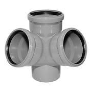 Крестовина двухплоскостная 110-110-50-110 мм 45° градусов (правая)