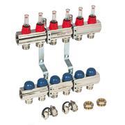 Uni-Fit 1 x 3/4 ЕК 3 выхода коллекторная группа с термостатическими вентилями и расходомерами