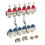 Uni-Fit 1 x 3/4 ЕК 12 выхода коллекторная группа с термостатическими вентилями и расходомерами