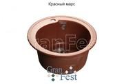 Мойка для кухни GranFest Rondo GF-R450 красный марс
