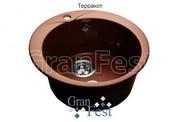 Мойка для кухни GranFest Rondo GF-R480 терракот