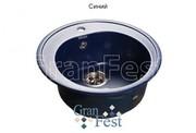 Мойка для кухни GranFest Rondo GF-R510 синий