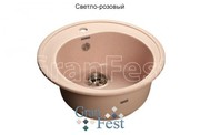 Мойка для кухни GranFest Rondo GF-R510 светло-розовый