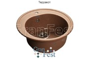 Мойка для кухни GranFest Rondo GF-R510 терракот
