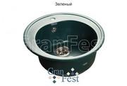 Мойка для кухни GranFest Rondo GF-R510 зеленый