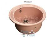 Мойка для кухни GranFest Rondo GF-R520 розовый