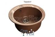 Мойка для кухни GranFest Rondo GF-R520 терракот
