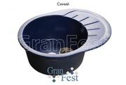 Мойка для кухни GranFest Rondo GF-R580L синий