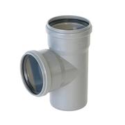 Тройник D 110х110х110 мм 87° ПП канализационный ПВХ