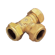 Тройник Обжимной Цанговый Tiemme 12х12х12 для медных труб