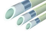 Труба полипропиленовая FV Plast армированная с алюминиевым слоем PN20 Stabioxy / 20x2,8 / хлыст 4 м