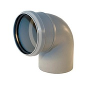 Угольник канализационный D 110 мм, угол 87,5 градусов