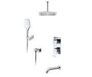 Встраиваемый комплект для ванны А171668 с верхней душевой насадкой, лейкой и изливом
